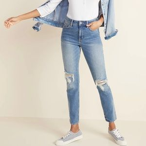 Old Navy | High-Rise Power Slim Straight Jean | 14